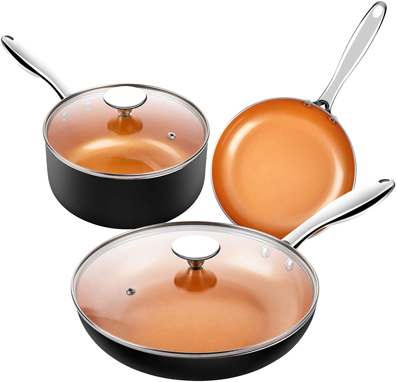 MICHELANGELO Copper Cookware Set
