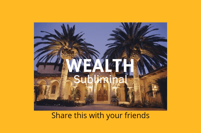 Wealth Subliminal 4 Just Released