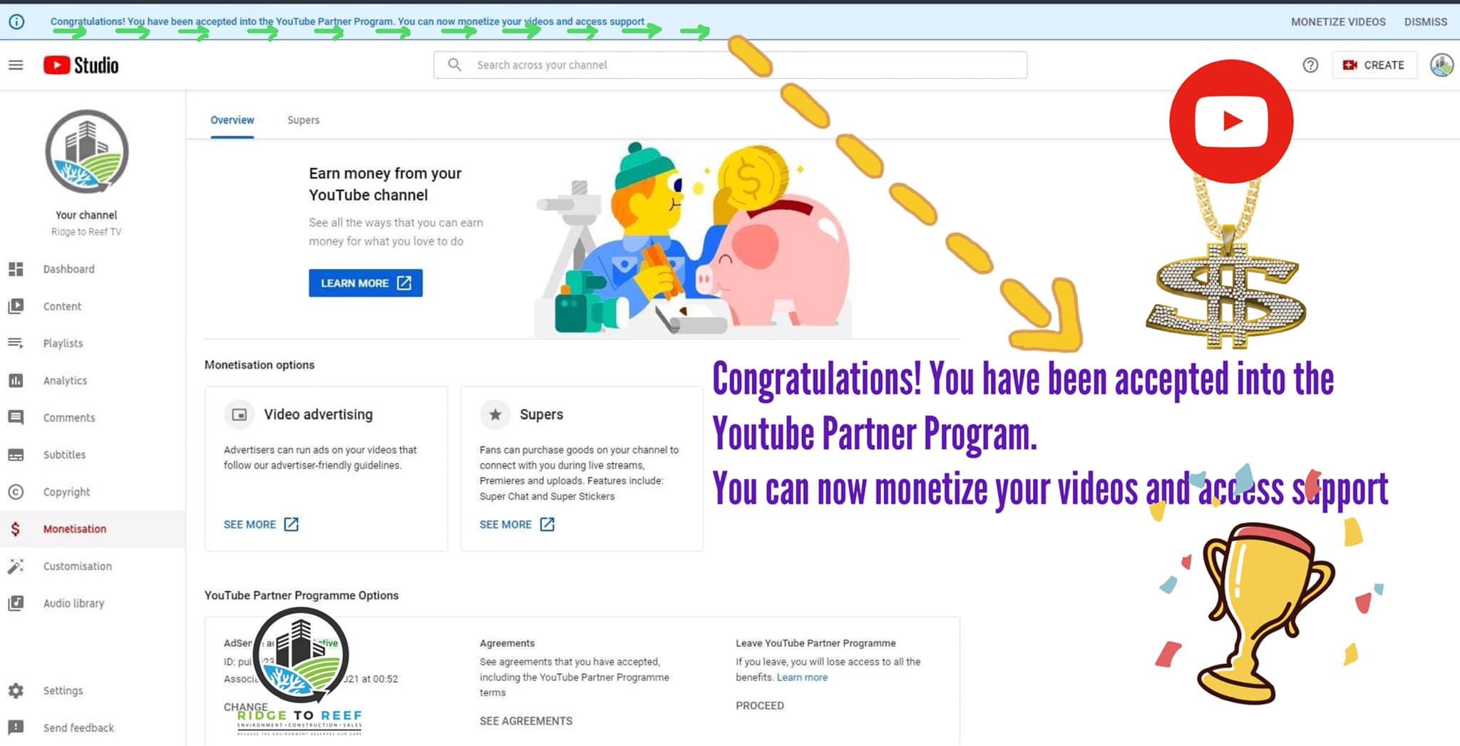 Ridge to Reef TV Hits 1,000 YouTube Subscribers