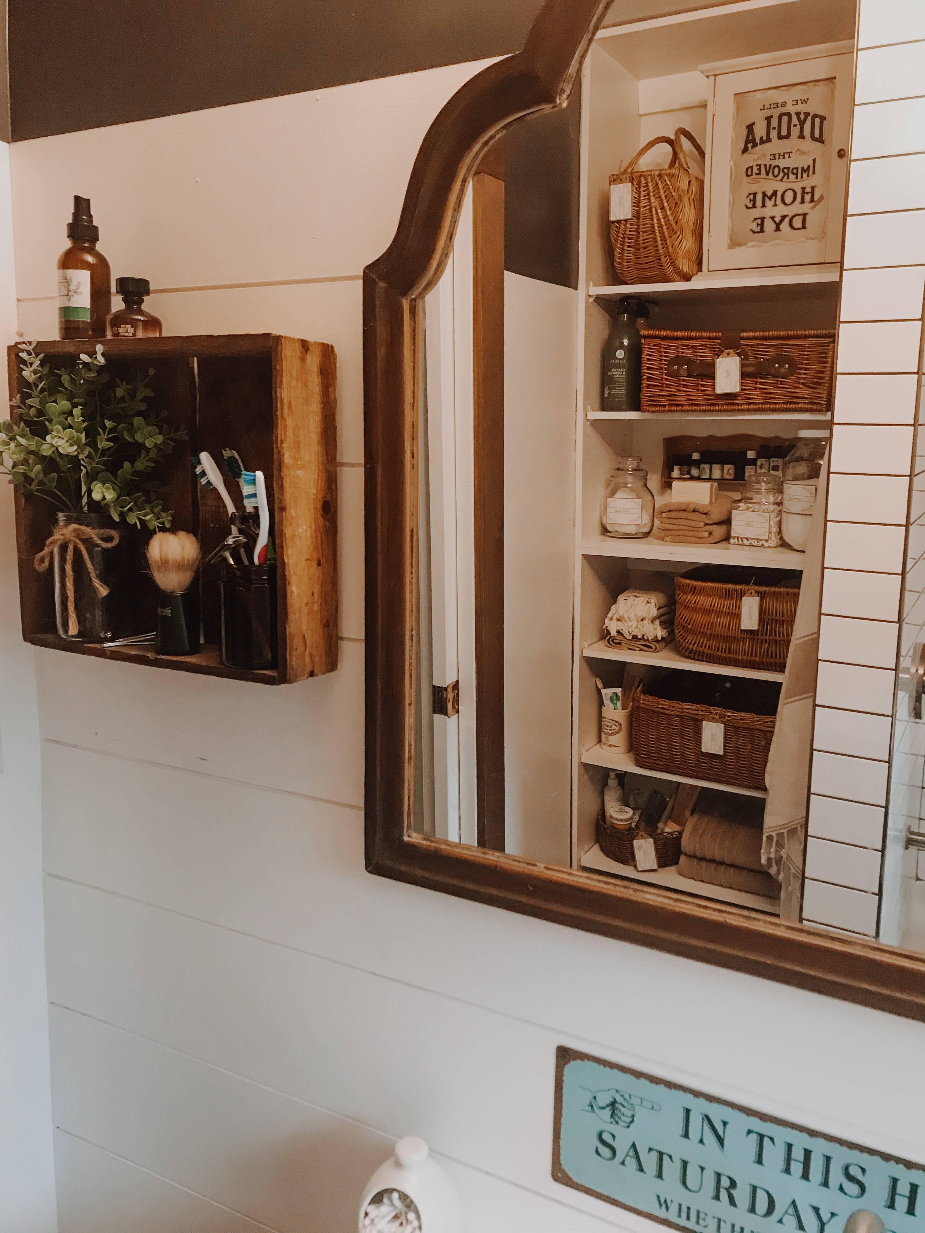 Bathroom Cupboard Organization