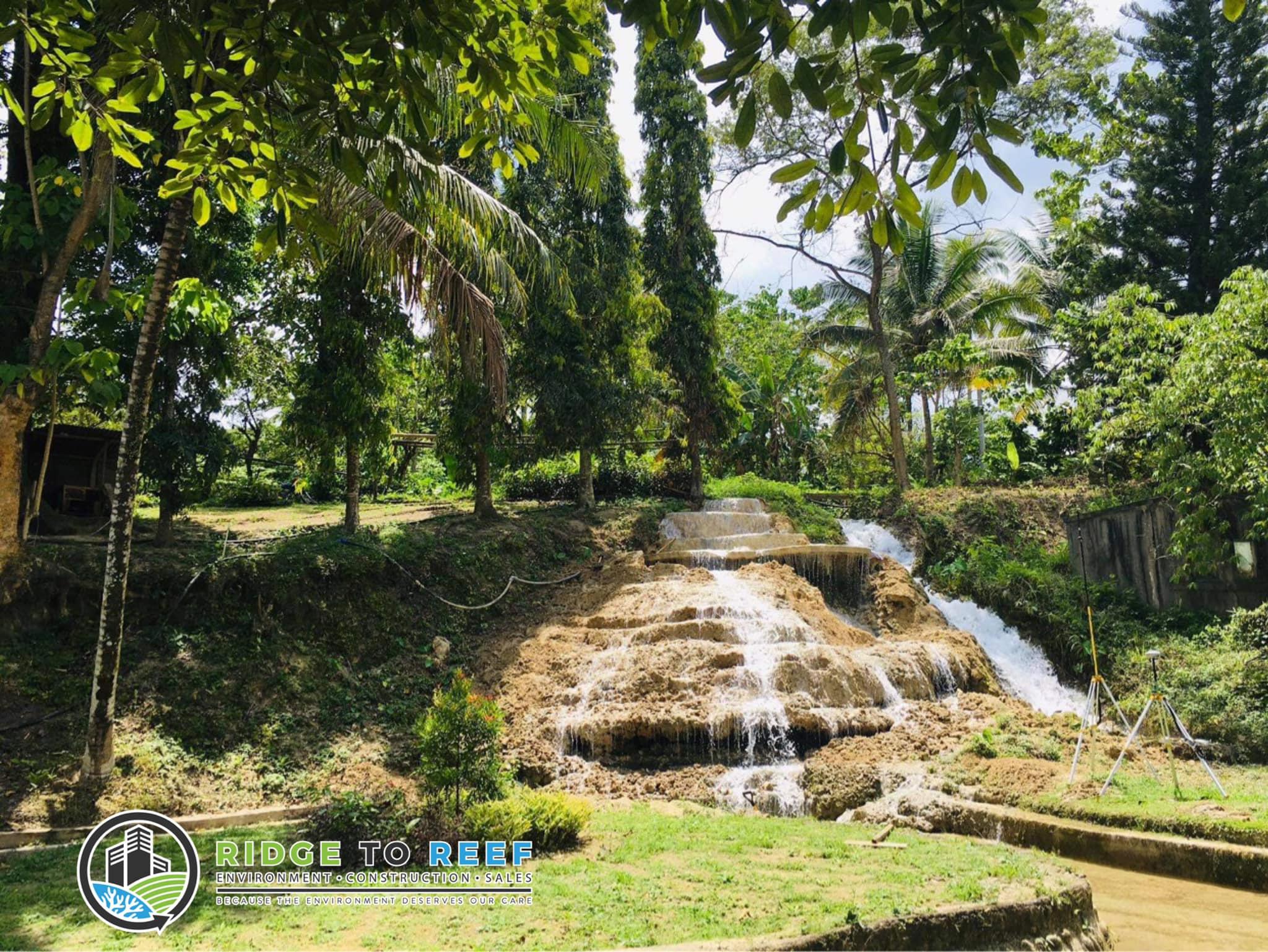 A beautiful waterfalls at the proposed R2R Demo Farm in Malabog, Paquibato District, Davao City