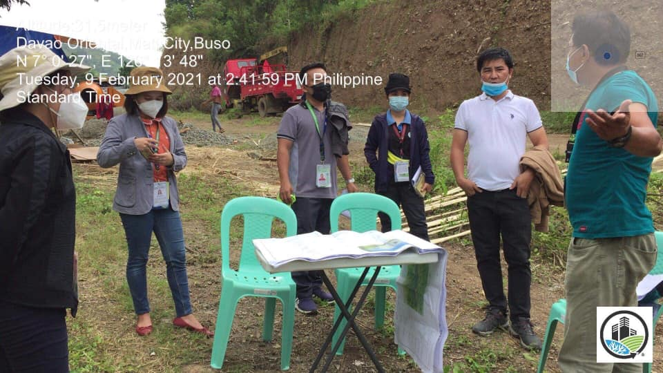 EMB XI Monitors the ongoing dumpsite closure works of Mati Cit